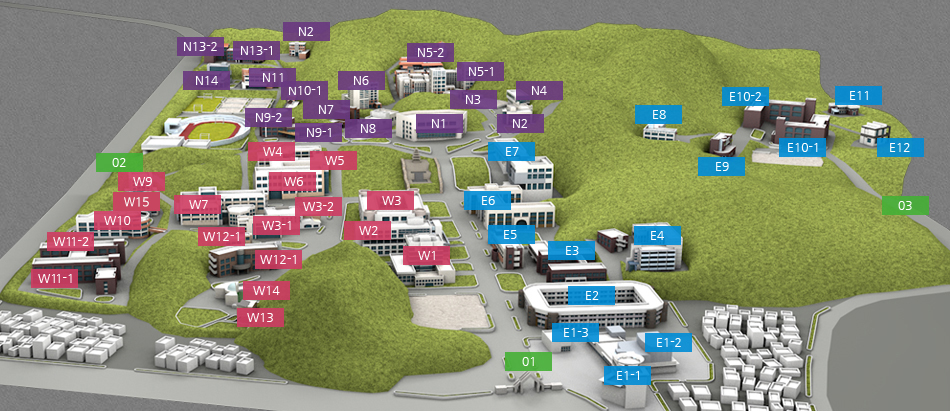 Daedeok Campus map image