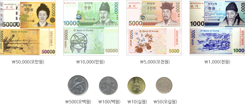 Korean currency describes image